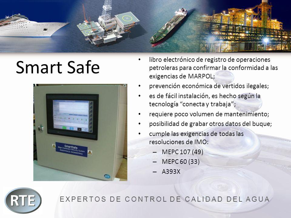 EXPERTOS DE CONTROL DE CALIDAD DEL AGUA Smart Safe libro electrónico de registro de operaciones petroleras para confirmar la conformidad a las exigenc