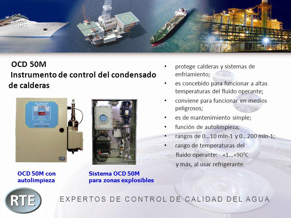 EXPERTOS DE CONTROL DE CALIDAD DEL AGUA OCD 50M Instrumento de control del condensado de calderas protege calderas y sistemas de enfriamiento; es conc