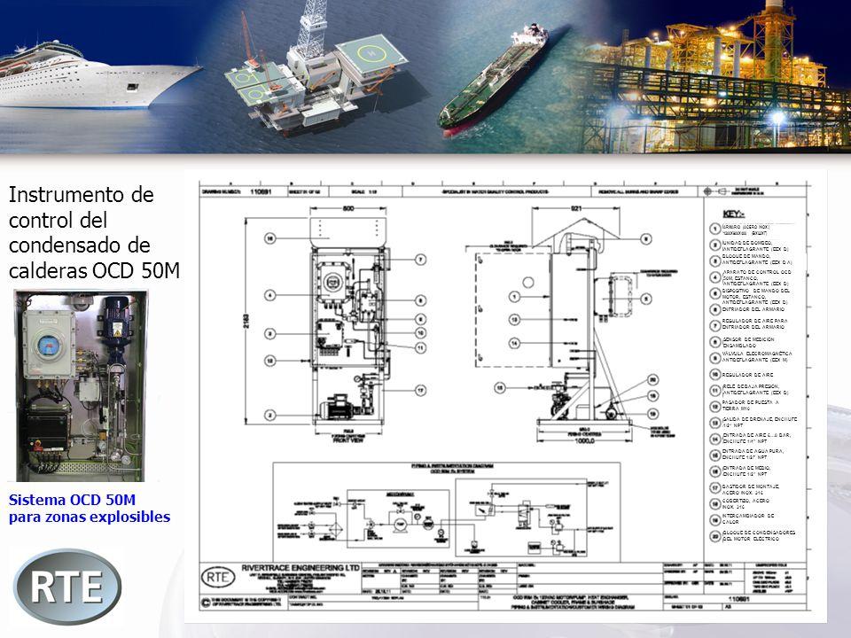 Instrumento de control del condensado de calderas OCD 50M Sistema OCD 50M para zonas explosibles BLOQUE DE CONDENSADORES DEL MOTOR ELÉCTRICO INTERCAMB