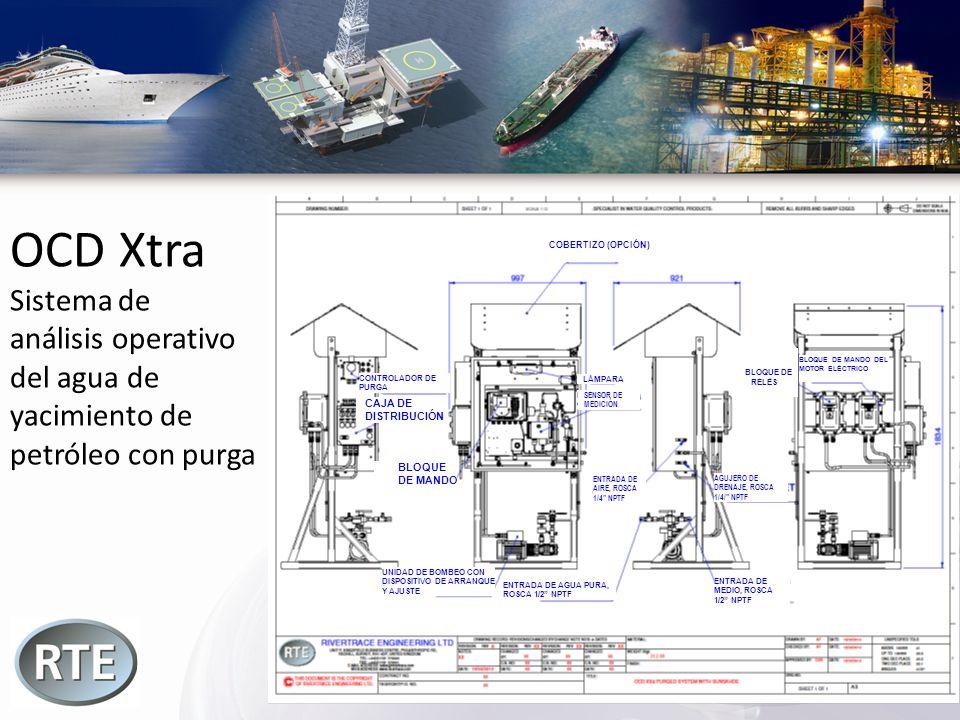 OCD Xtra Sistema de análisis operativo del agua de yacimiento de petróleo con purga COBERTIZO (OPCIÓN) CONTROLADOR DE PURGA CAJA DE DISTRIBUCIÓN BLOQU