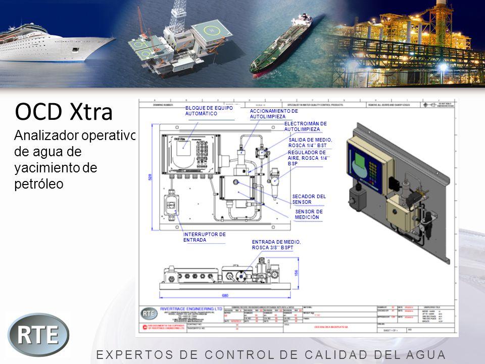 EXPERTOS DE CONTROL DE CALIDAD DEL AGUA OCD Xtra Analizador operativo de agua de yacimiento de petróleo BLOQUE DE EQUIPO AUTOMÁTICO ACCIONAMIENTO DE A