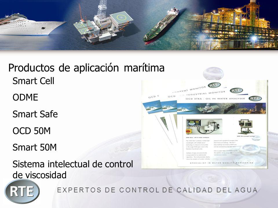 EXPERTOS DE CONTROL DE CALIDAD DEL AGUA Productos de aplicación marítima Smart Cell ODME Smart Safe OCD 50M Smart 50M Sistema intelectual de control d