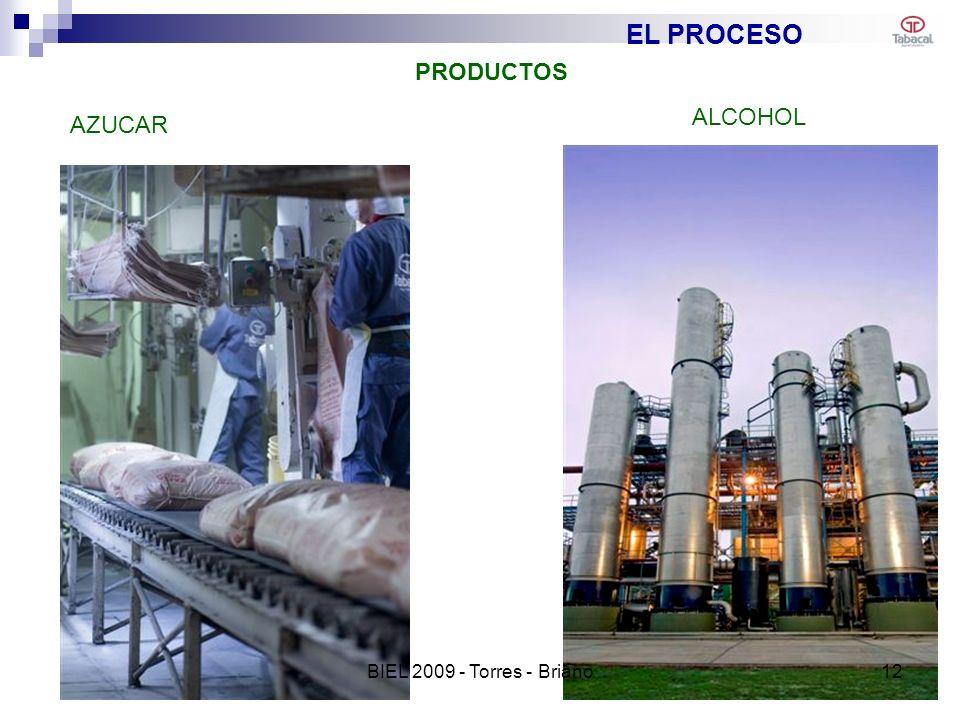 EL PROCESO AZUCAR ALCOHOL PRODUCTOS 12BIEL 2009 - Torres - Briano