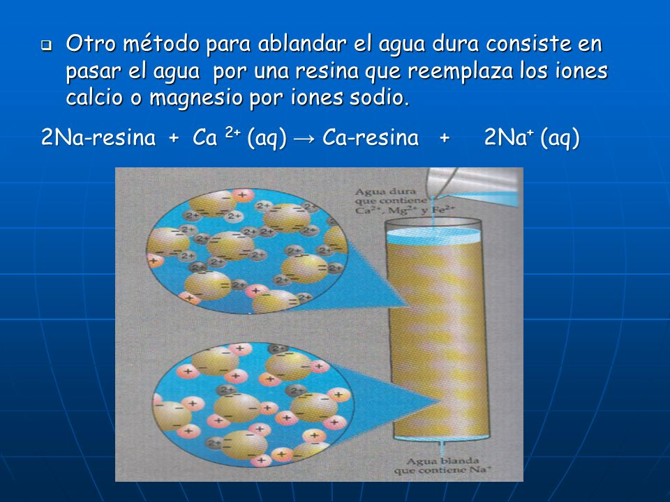 Para ablandar un agua temporalmente dura debe hervirse para que así precipite el carbonato calcico que es insoluble eliminando así el ión Ca 2+, de ac