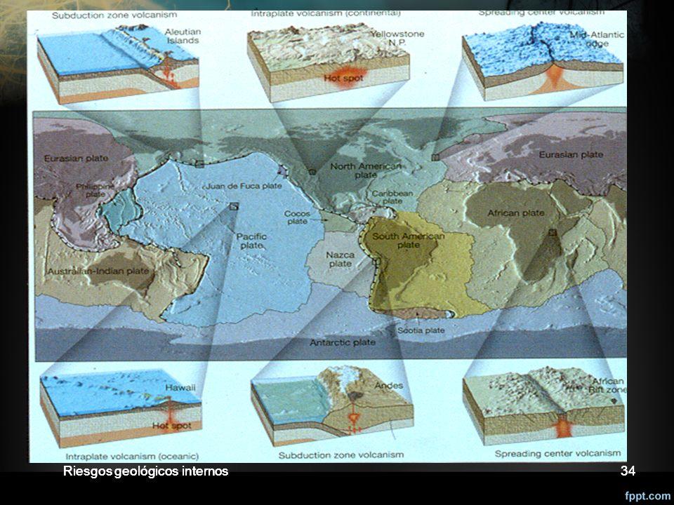 Riesgos geológicos internos34 Áreas de riesgo volcánico 34Riesgos geológicos internos