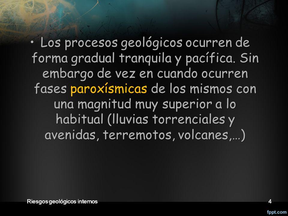4 4 Los procesos geológicos ocurren de forma gradual tranquila y pacífica.