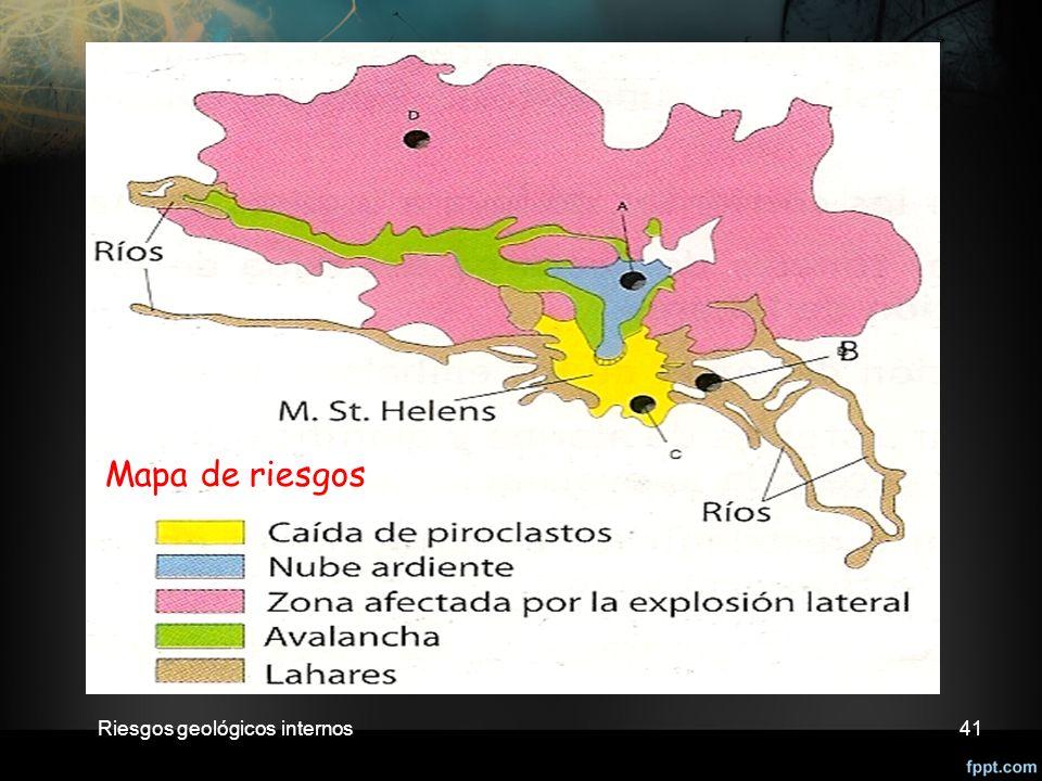 Riesgos geológicos internos41 Mapa de riesgos