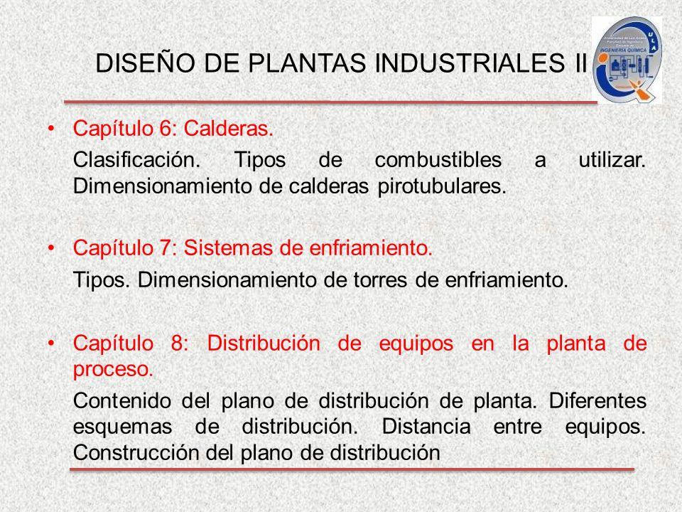 DISEÑO DE PLANTAS INDUSTRIALES II Capítulo 6: Calderas.