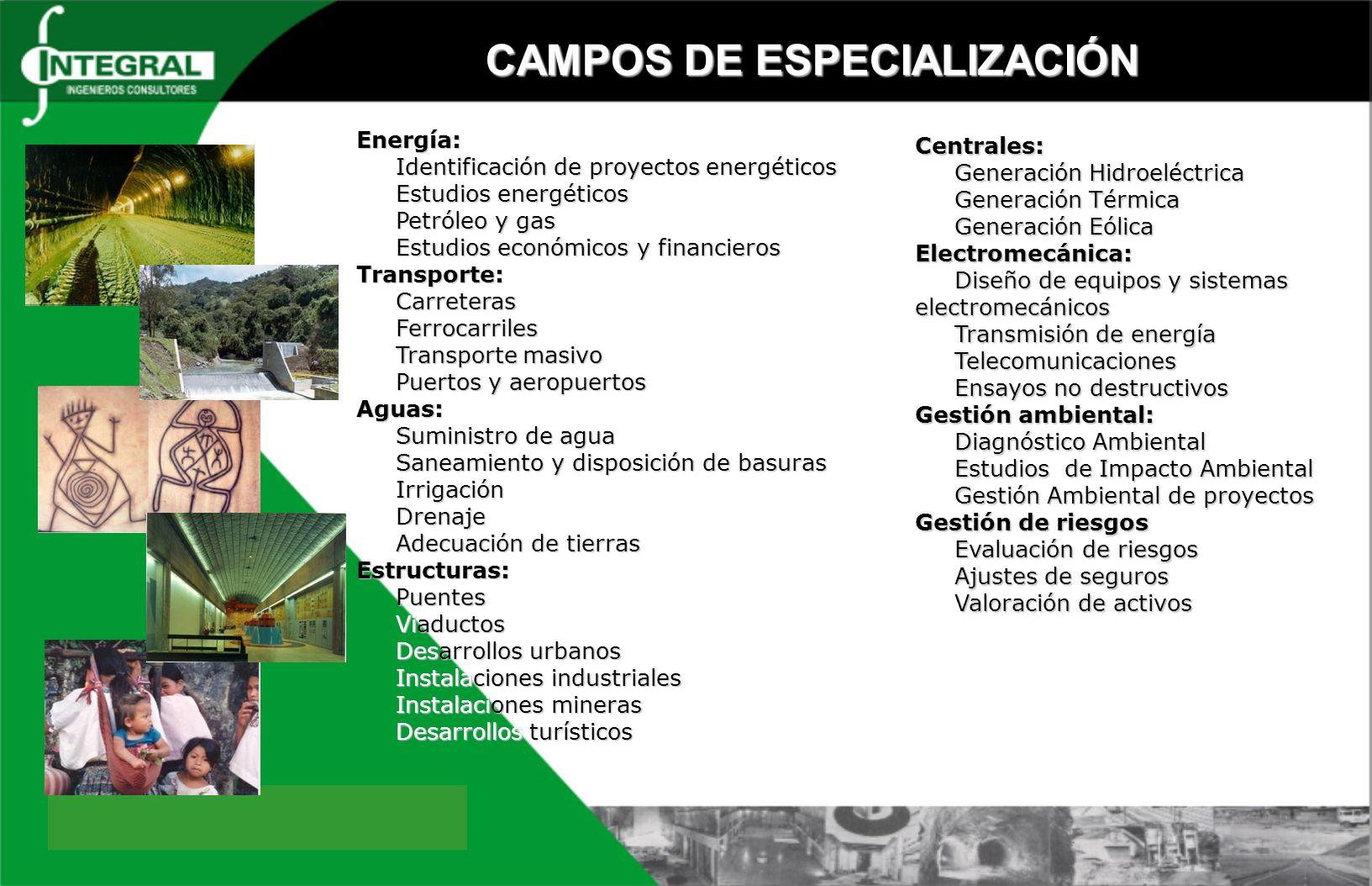 PROYECTO HIDROELÉCTRICO PORCE II (1988 – 2001) Cliente: Empresas Públicas de Medellín E.P.M Valor: US$ 17.817.538 + FF 2.753.000 Recursos propios y crédito del BID PREMIO NACIONAL DE INGENIERÍA 2002 PREMIO NACIONAL DE INGENIERÍA 2001 PREMIO NACIONAL DE INGENIERÍA 2001 PROYECTO HIDROELÉCTRICO RÍO PIEDRAS (1999) Cliente: Generar E.S.P Valor: US$ 1.500.000 Recursos propios Proyectos Destacados