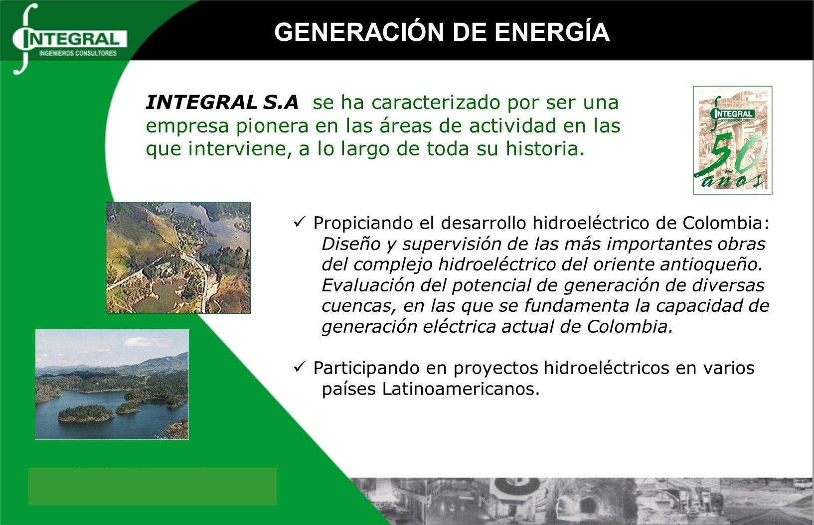 Propiciando el desarrollo hidroeléctrico de Colombia: Diseño y supervisión de las más importantes obras del complejo hidroeléctrico del oriente antioq
