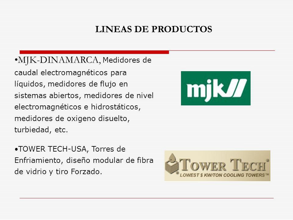 MJK-DINAMARCA, Medidores de caudal electromagnéticos para líquidos, medidores de flujo en sistemas abiertos, medidores de nivel electromagnéticos e hidrostáticos, medidores de oxigeno disuelto, turbiedad, etc.