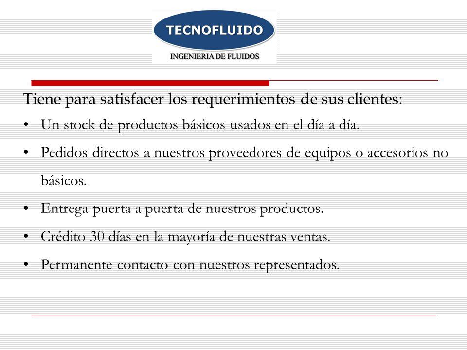 Tiene para satisfacer los requerimientos de sus clientes: Un stock de productos básicos usados en el día a día.