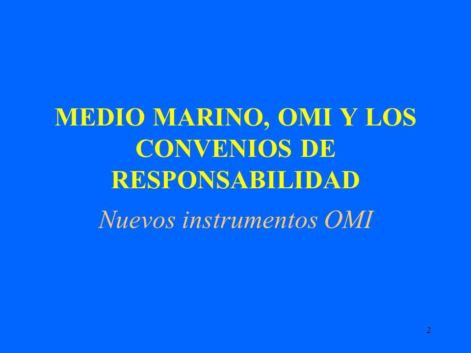 2 MEDIO MARINO, OMI Y LOS CONVENIOS DE RESPONSABILIDAD Nuevos instrumentos OMI