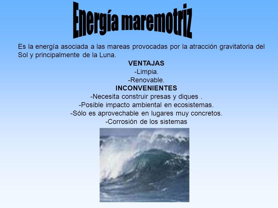 Es la energía interna y cinética asociada al vapor de agua que sale directamente a la superficie en zonas volcánicas y al aumento de temperatura que se produce conforme profundizamos en la superficie terrestre.
