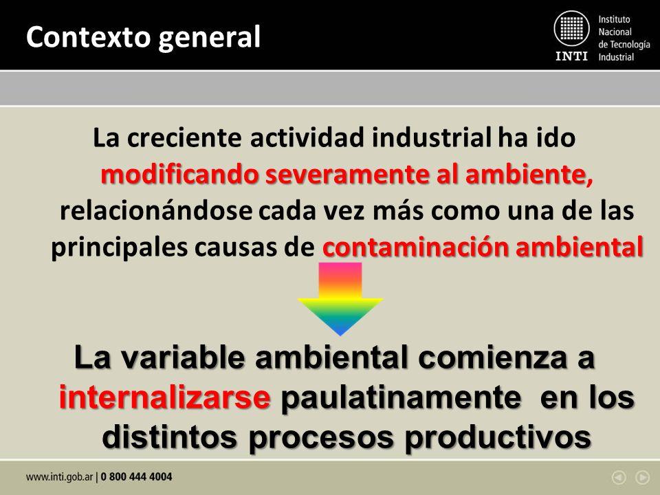 Contexto general modificando severamente al ambiente contaminación ambiental La creciente actividad industrial ha ido modificando severamente al ambie