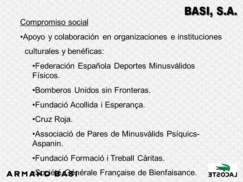 Compromiso social Apoyo y colaboración en organizaciones e instituciones culturales y benéficas: Federación Española Deportes Minusválidos Físicos. Bo