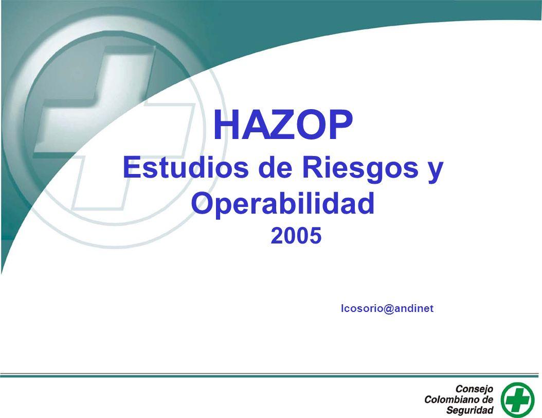 HAZOP Estudios de Riesgos y Operabilidad 2005 lcosorio@andinet.com