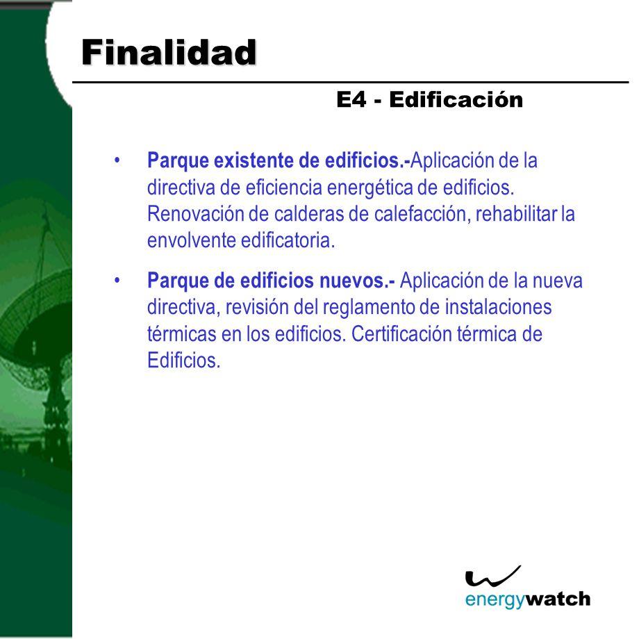 Finalidad Promoción electrodomésticos clase A. E4 - Residencial