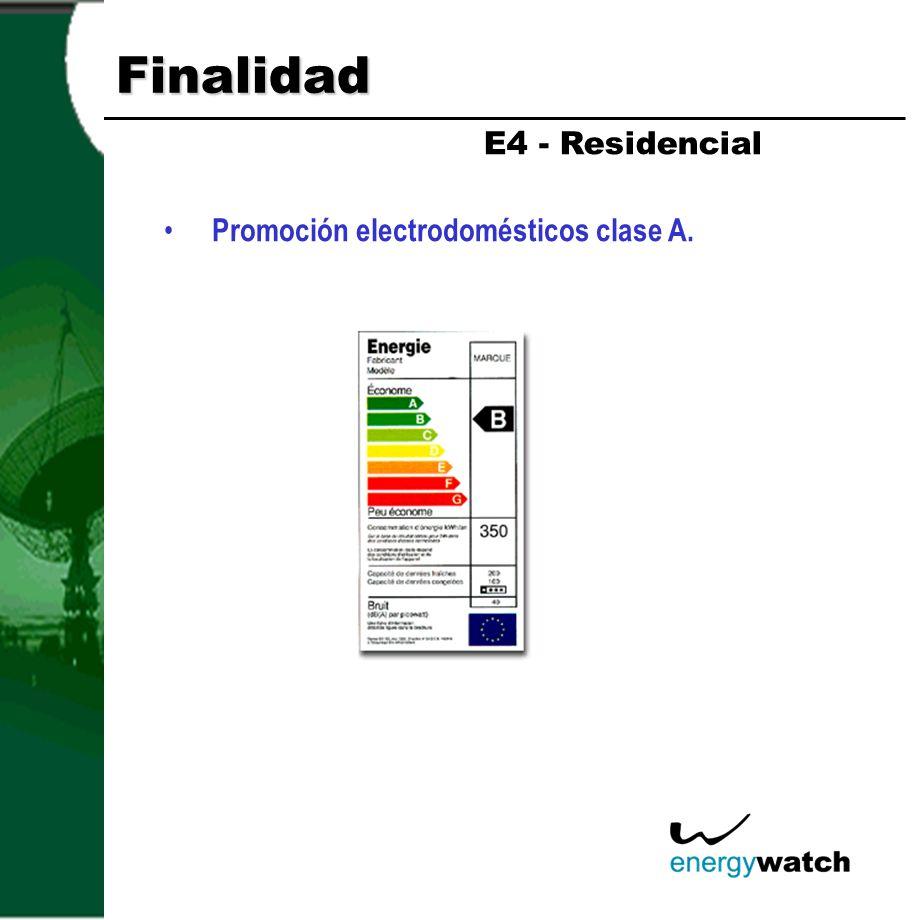 Finalidad Reforma del alumbrado público.- Sustitución de lámparas de vapor de mercurio por vapor de sodio de alta presión.