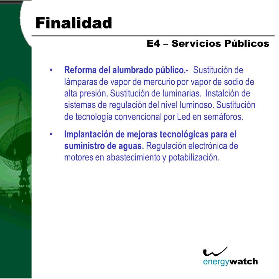Finalidad Modernización en las acciones de producción agrícola y en la maquinaria empleada.