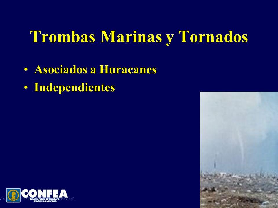 Trombas Marinas y Tornados Asociados a Huracanes Independientes