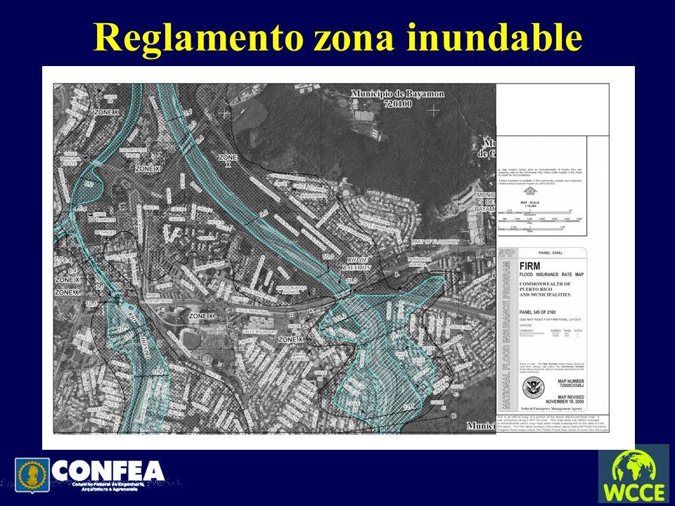 Reglamento zona inundable