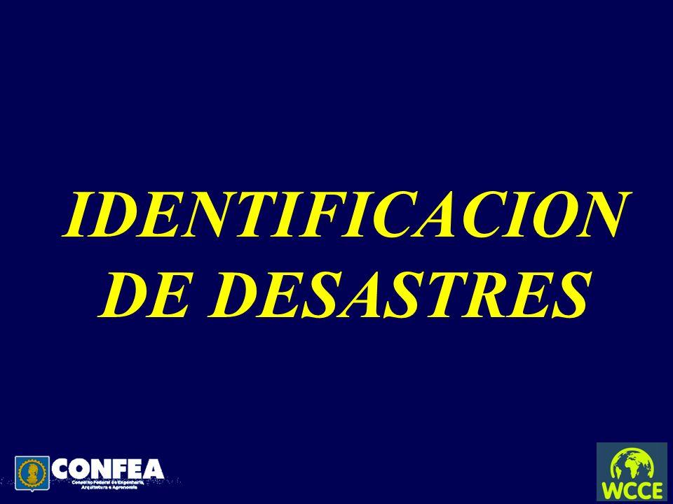 IDENTIFICACION DE DESASTRES