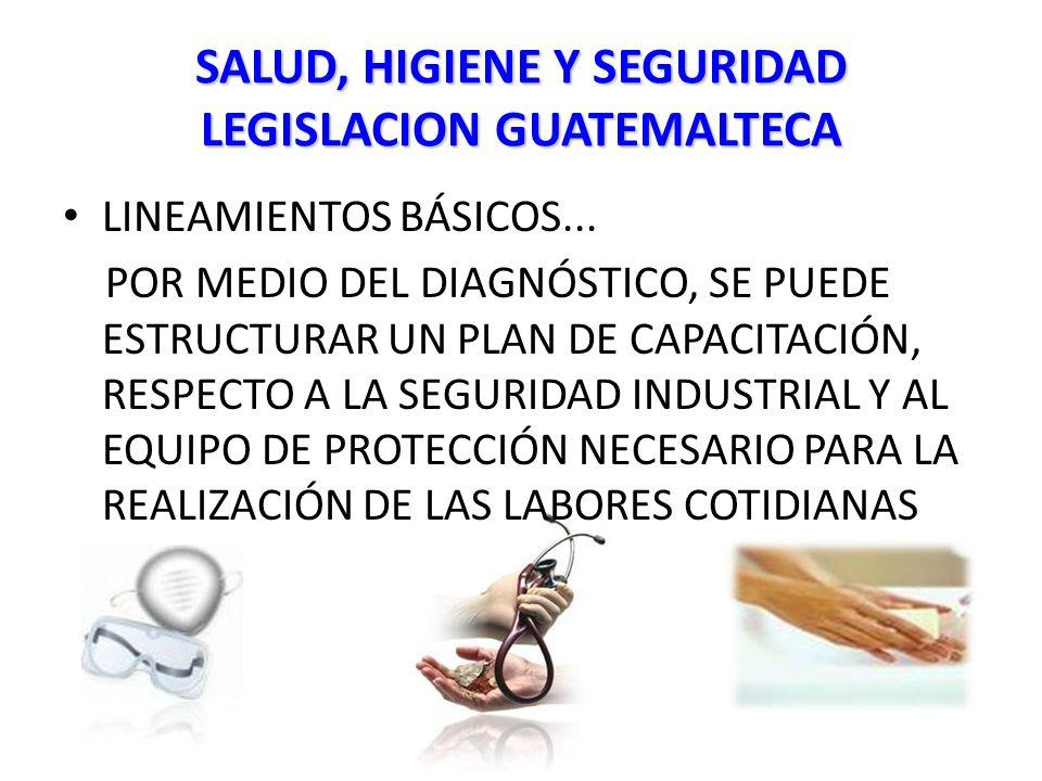 SALUD, HIGIENE Y SEGURIDAD LEGISLACION GUATEMALTECA LINEAMIENTOS BÁSICOS...