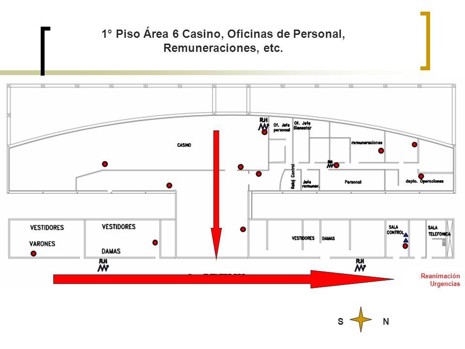 Reanimación Urgencias NS 1° Piso Área 6 Casino, Oficinas de Personal, Remuneraciones, etc.
