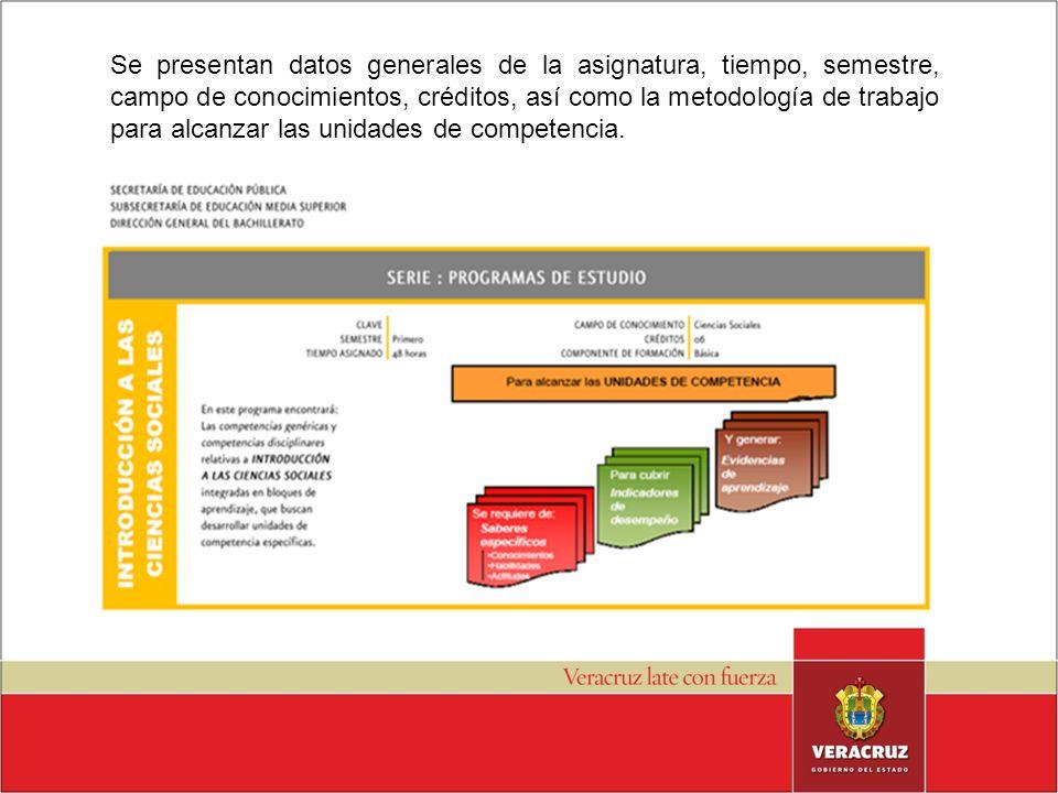 Se presentan datos generales de la asignatura, tiempo, semestre, campo de conocimientos, créditos, así como la metodología de trabajo para alcanzar la