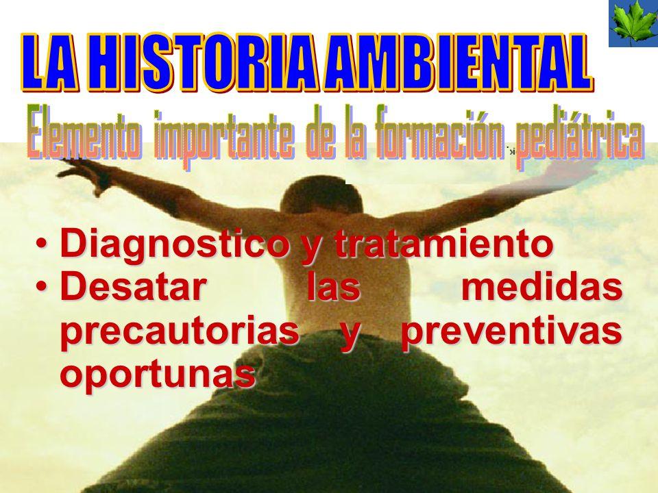 Diagnostico y tratamientoDiagnostico y tratamiento Desatar las medidas precautorias y preventivas oportunasDesatar las medidas precautorias y preventi