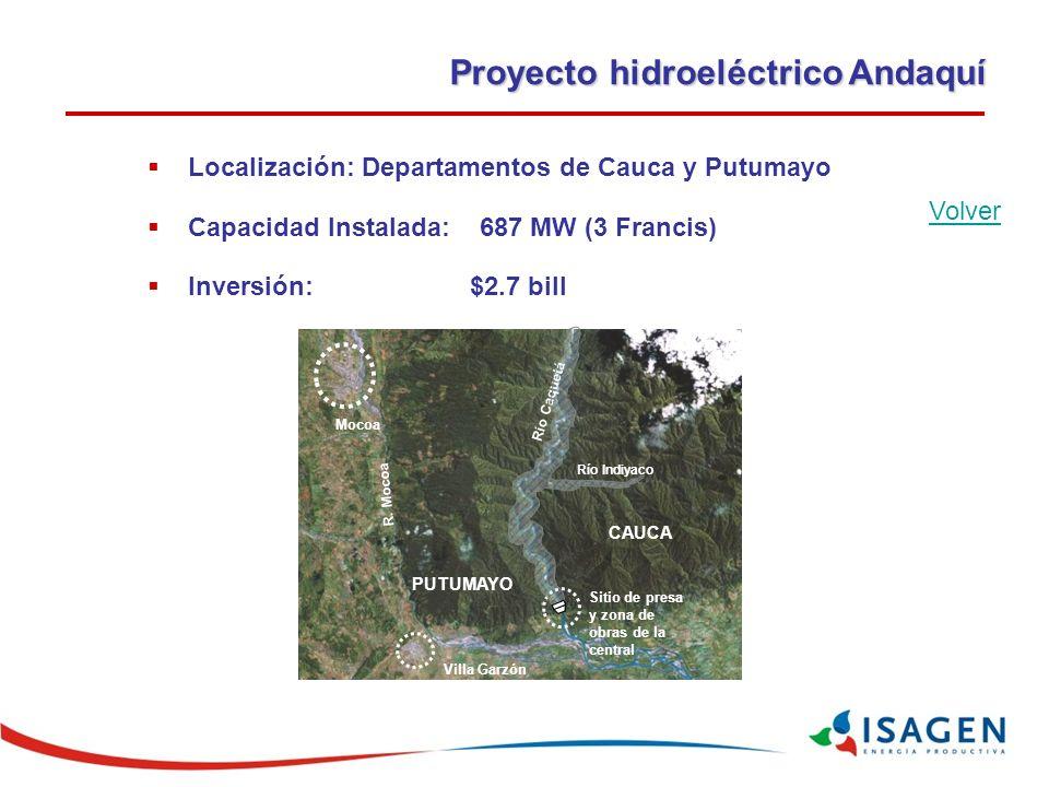 Proyecto hidroeléctrico Andaquí Mocoa R.