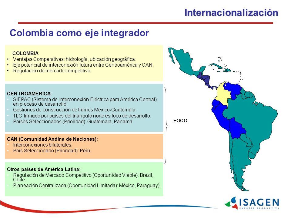 CENTROAMÉRICA: SIEPAC (Sistema de Interconexión Eléctrica para América Central) en proceso de desarrollo.