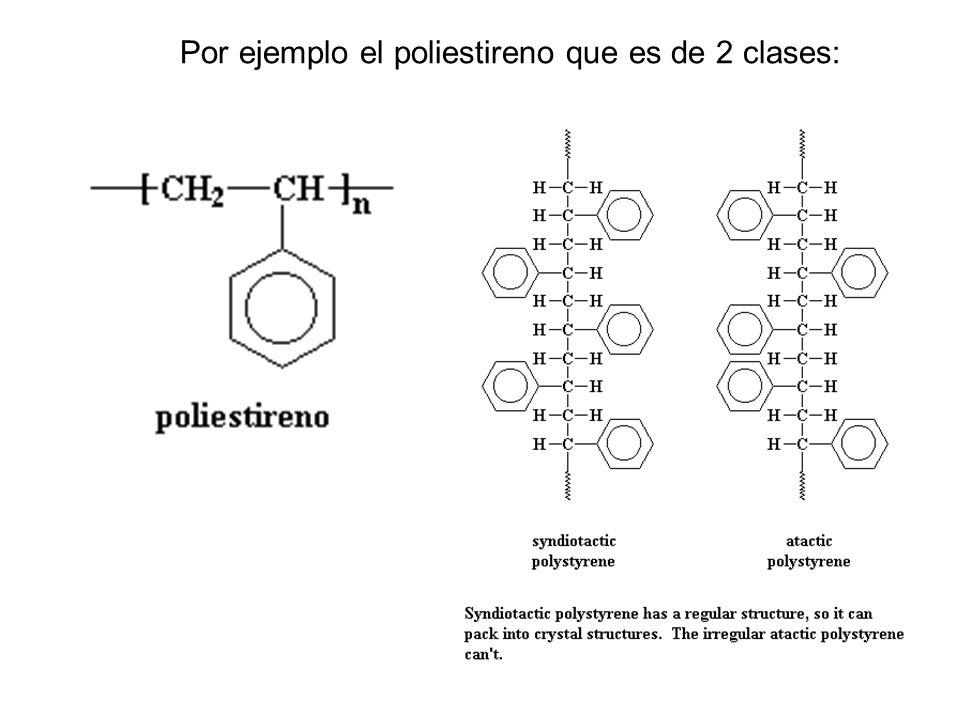 Por ejemplo el poliestireno que es de 2 clases: