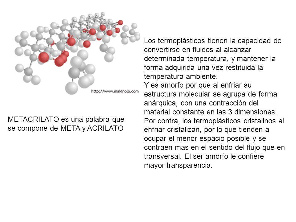 Los termoplásticos tienen la capacidad de convertirse en fluidos al alcanzar determinada temperatura, y mantener la forma adquirida una vez restituida la temperatura ambiente.