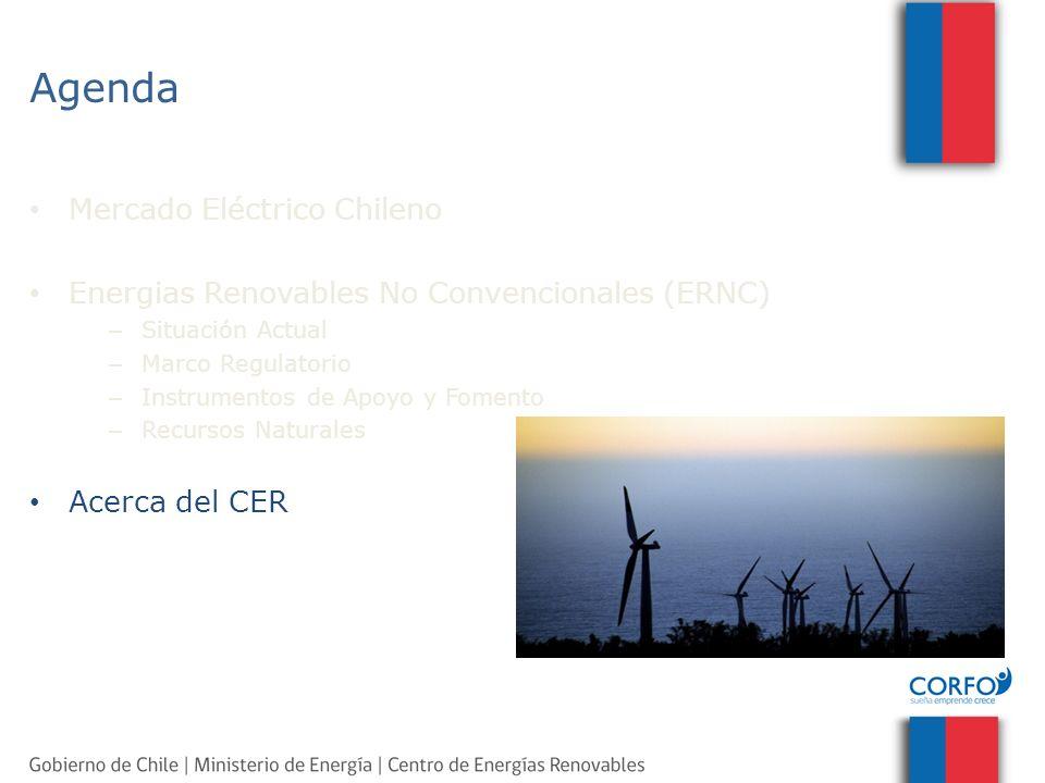 Agenda Mercado Eléctrico Chileno Energias Renovables No Convencionales (ERNC) – Situación Actual – Marco Regulatorio – Instrumentos de Apoyo y Fomento