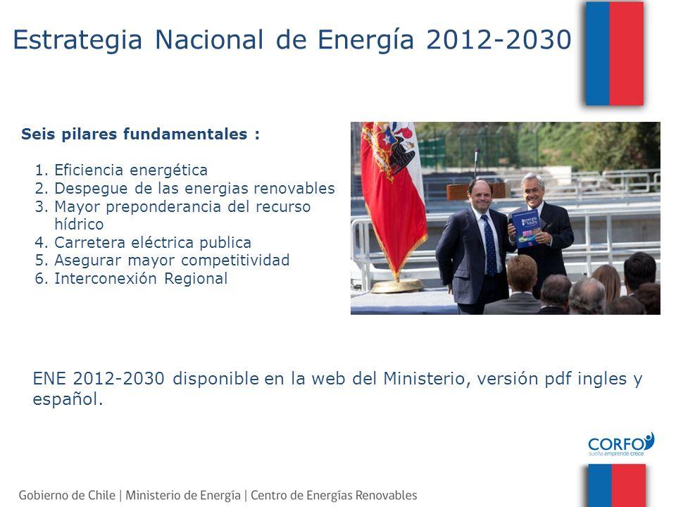 Seis pilares fundamentales : 1.Eficiencia energética 2. Despegue de las energias renovables 3.Mayor preponderancia del recurso hídrico 4. Carretera el