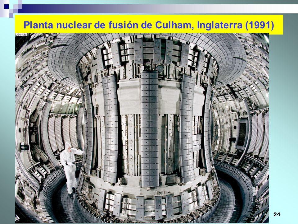 24 Planta nuclear de fusión de Culham, Inglaterra (1991)