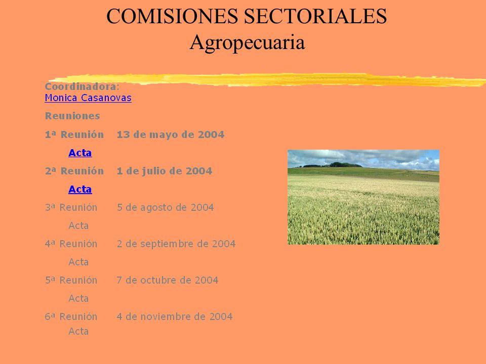 COMISIONES SECTORIALES Agropecuaria