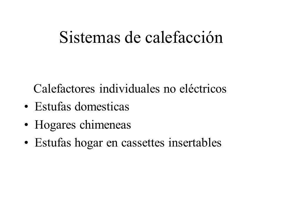 Sistemas de calefacción Calefactores individuales no eléctricos Estufas domesticas Hogares chimeneas Estufas hogar en cassettes insertables