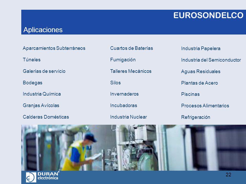 EUROSONDELCO Aparcamientos Subterráneos Túneles Galerías de servicio Bodegas Industria Química Granjas Avícolas Calderas Domésticas Cuartos de Batería