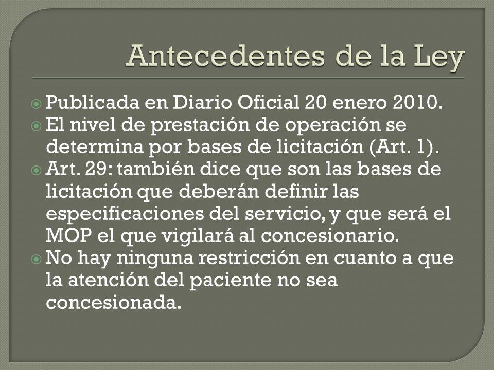 Publicada en Diario Oficial 20 enero 2010.