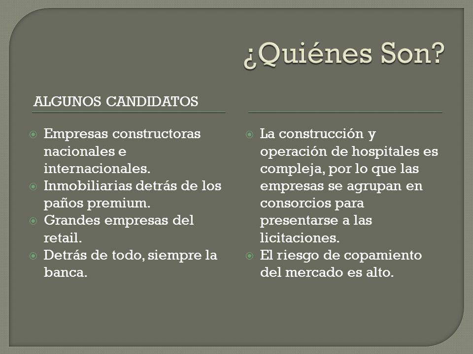 ALGUNOS CANDIDATOS Empresas constructoras nacionales e internacionales.