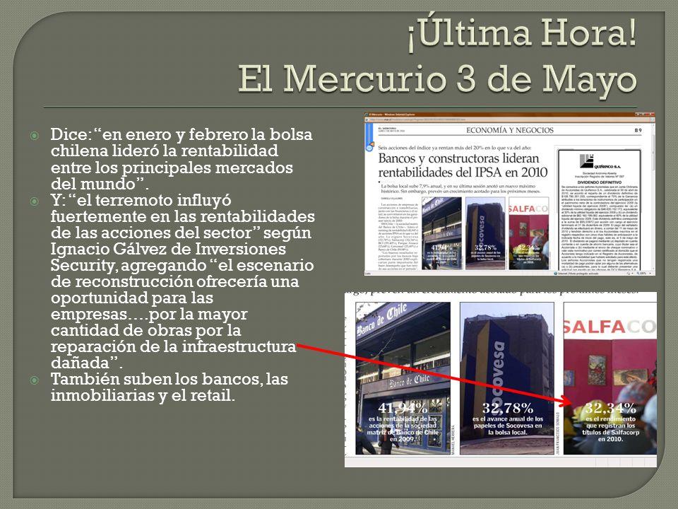 Dice: en enero y febrero la bolsa chilena lideró la rentabilidad entre los principales mercados del mundo.