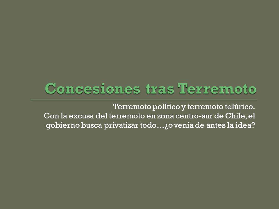Terremoto político y terremoto telúrico.