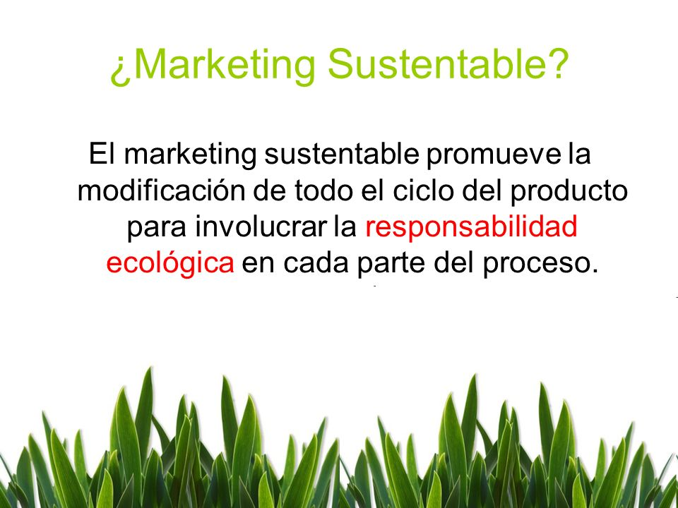¿Marketing Sustentable.