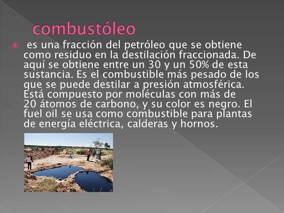 Clasificación según su punto de ebullicion Número 1 es similar al queroseno y es la fracción que hierve justo luego de la gasolina.