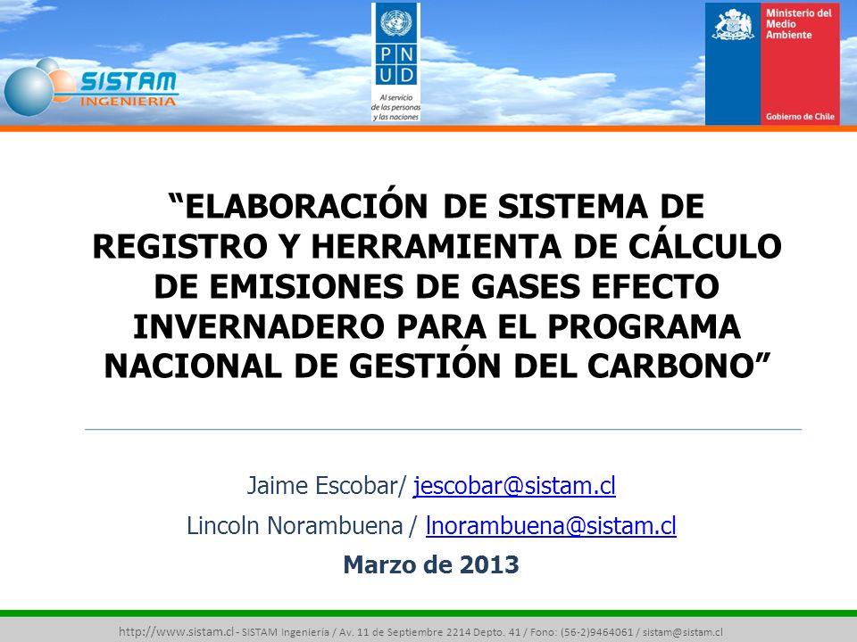 OBJETIVO PRINCIPAL http://www.sistam.cl - SISTAM Ingeniería / Av.