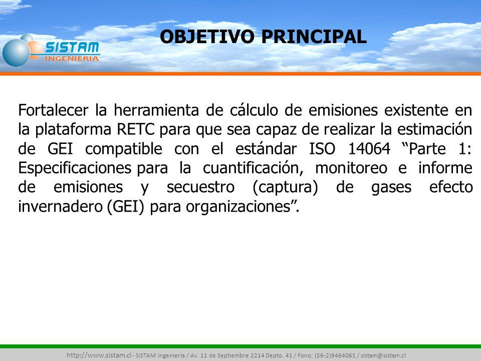 Metodologías de Cálculo de GEI http://www.sistam.cl - SISTAM Ingeniería / Av.