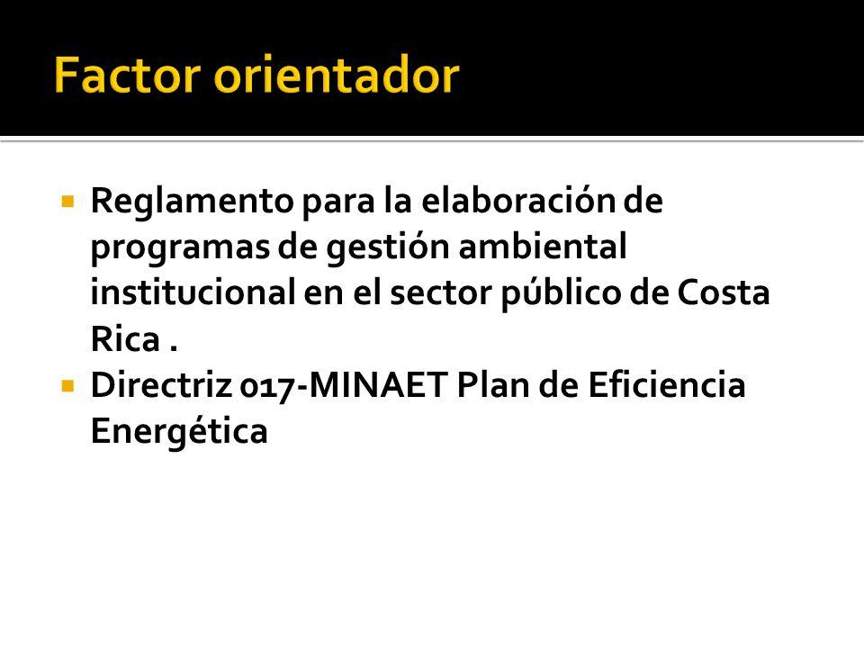 Reglamento para la elaboración de programas de gestión ambiental institucional en el sector público de Costa Rica.